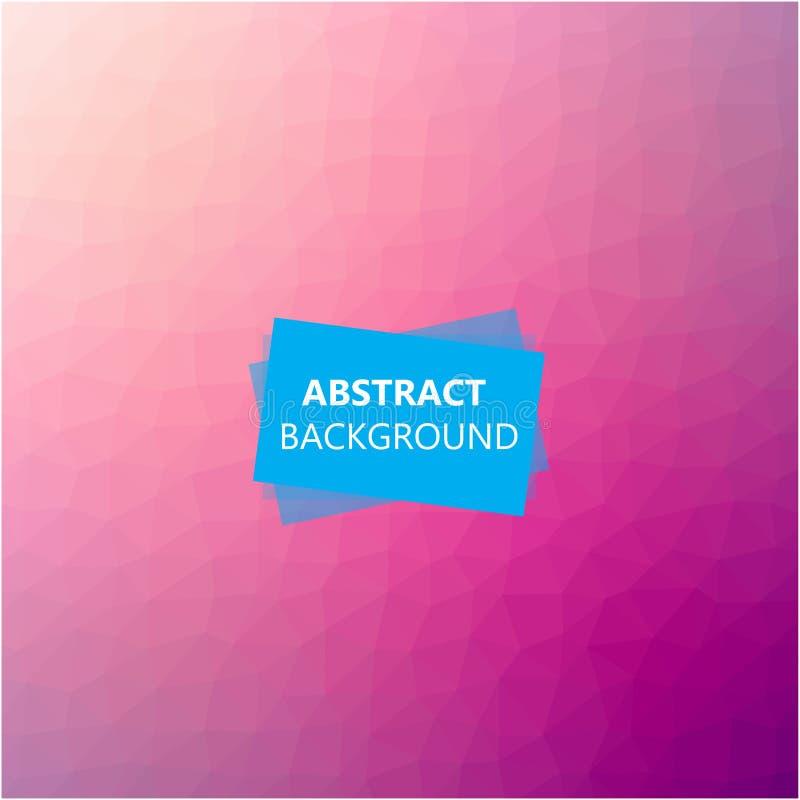 Polygonal abstrakt bakgrund stock illustrationer