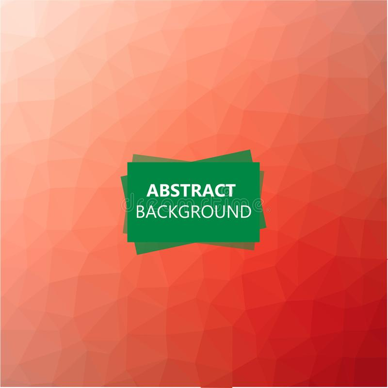 Polygonal abstrakt bakgrund vektor illustrationer