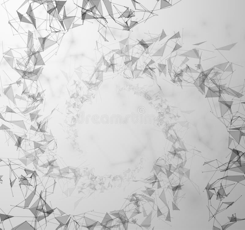 Polygonal anslutningsvektorbakgrund EPS10 vektor illustrationer