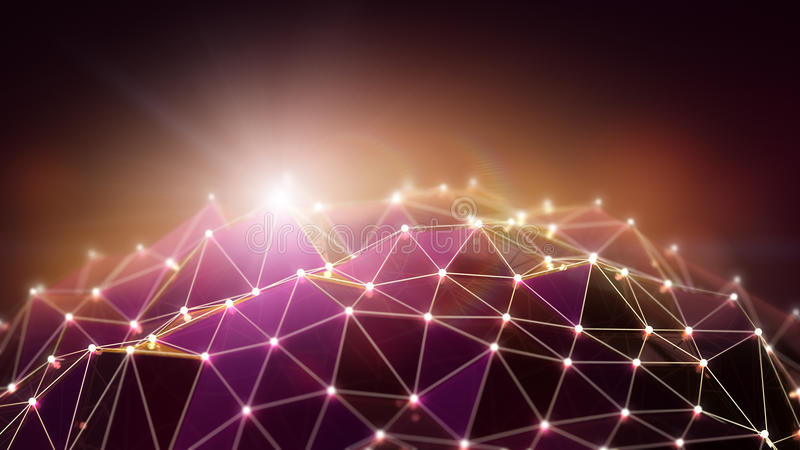 Polygonal background. Abstract polygonal background with macro effect royalty free illustration