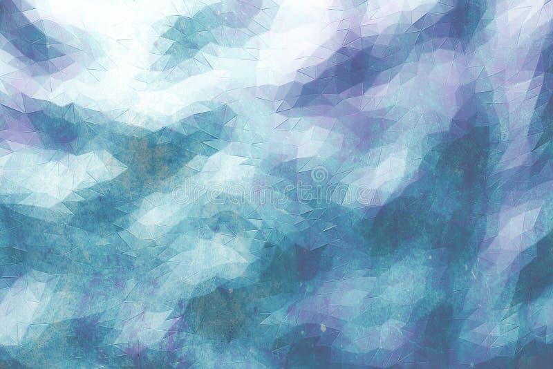 Polygonal bakgrund stock illustrationer