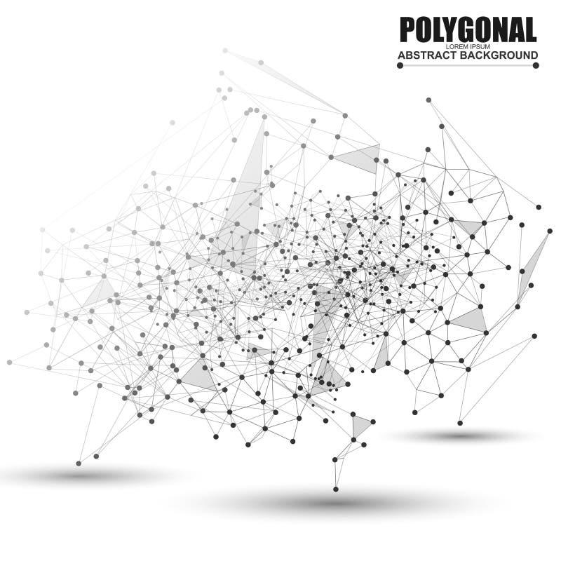 Polygonal bakgrund för abstrakt wireframeingrepp vektor illustrationer