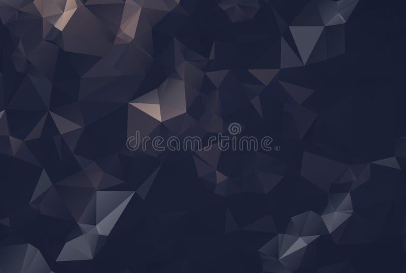 Polygonal bakgrund för svart mosaik för kol abstrakt stock illustrationer