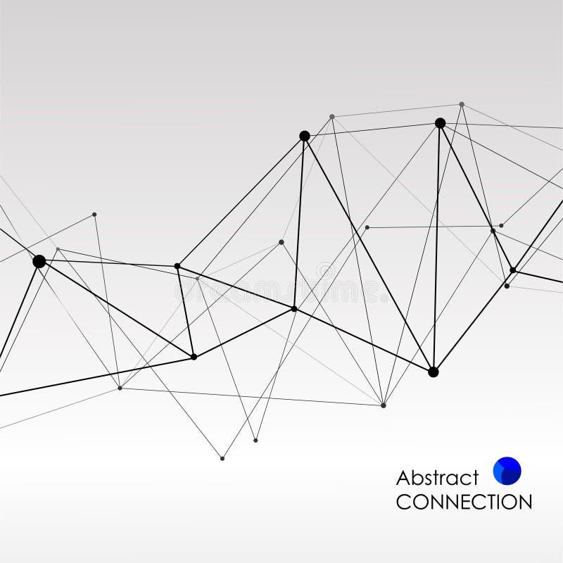Polygonal bakgrund med abstrakt molekylär anslutning royaltyfri illustrationer