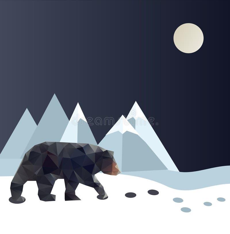Polygonal bear stock photography