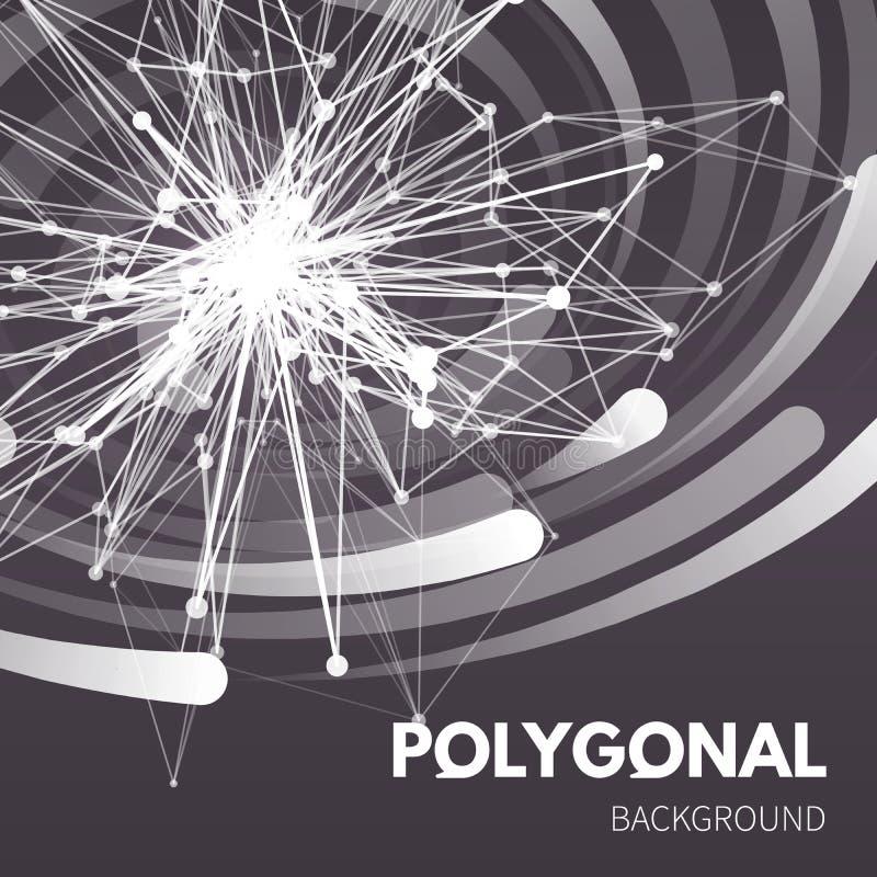 Polygonal beståndsdel för Wireframe ingrepp Stjärna med stock illustrationer