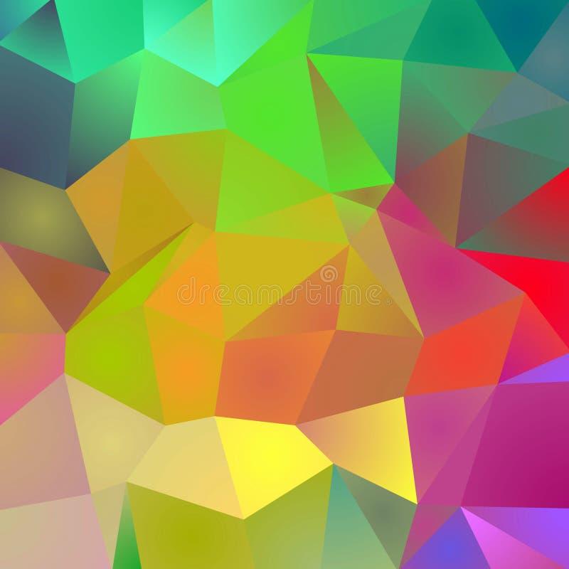 Polygonal Colors Background stock illustration