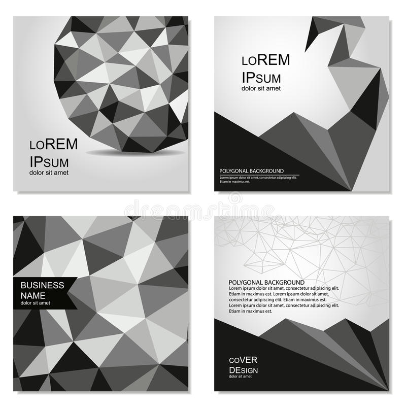 Polygonal Covers Design  Business Templates For Web Sites, Prints