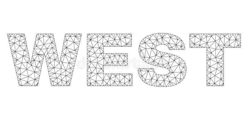 Polygonal 2D V?STRA textetikett stock illustrationer