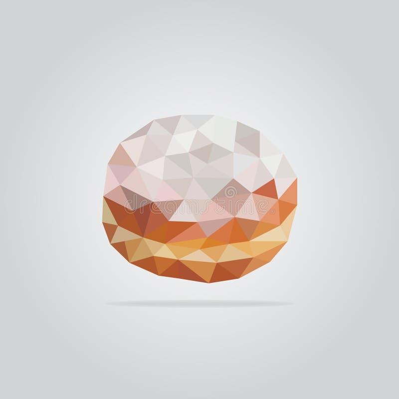 Polygonal donut illustration stock photos