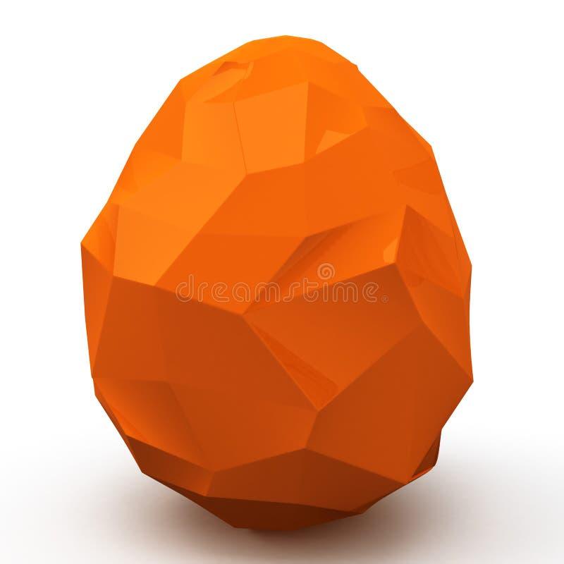 Polygonal Easter egg, 3d vector illustration