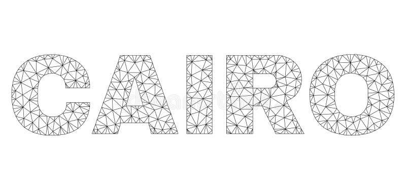 Polygonal etikett f?r ingreppsKAIROtext stock illustrationer