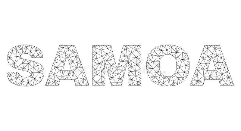 Polygonal etikett f?r tr?dramSAMOA text stock illustrationer