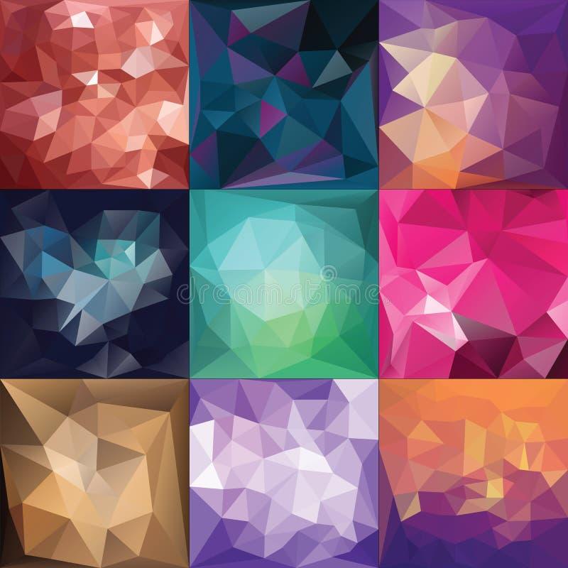 Polygonal Geometric backgrounds. royalty free illustration