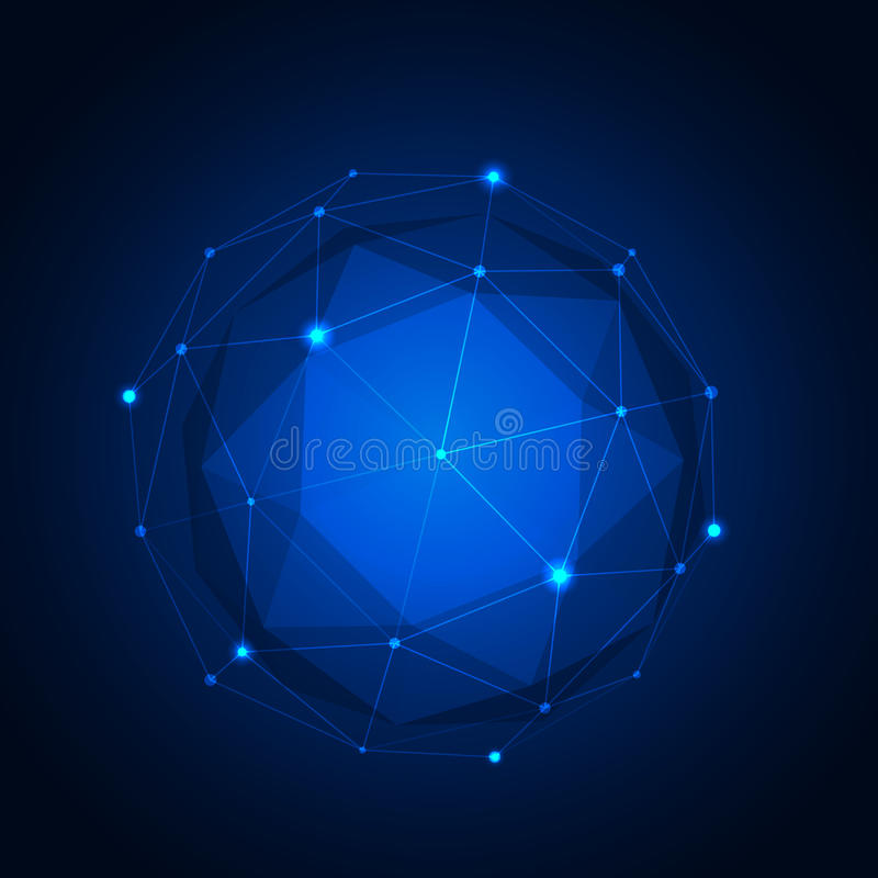 Polygonal geometric figure. Vector illustration vector illustration