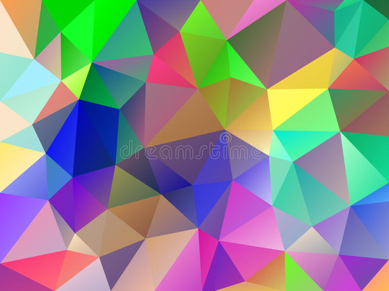 Polygonal geometric triangle background. Vector colorful abstract polygonal geometric triangle background. Abstract colorful mosaic background. Stock vector royalty free illustration