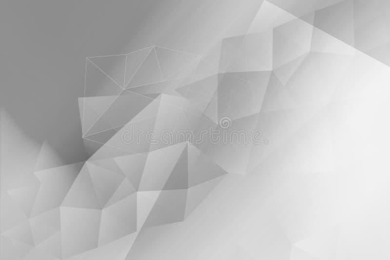 Polygonal, geometric white and grey background. A Polygonal, geometric white and gray background royalty free illustration