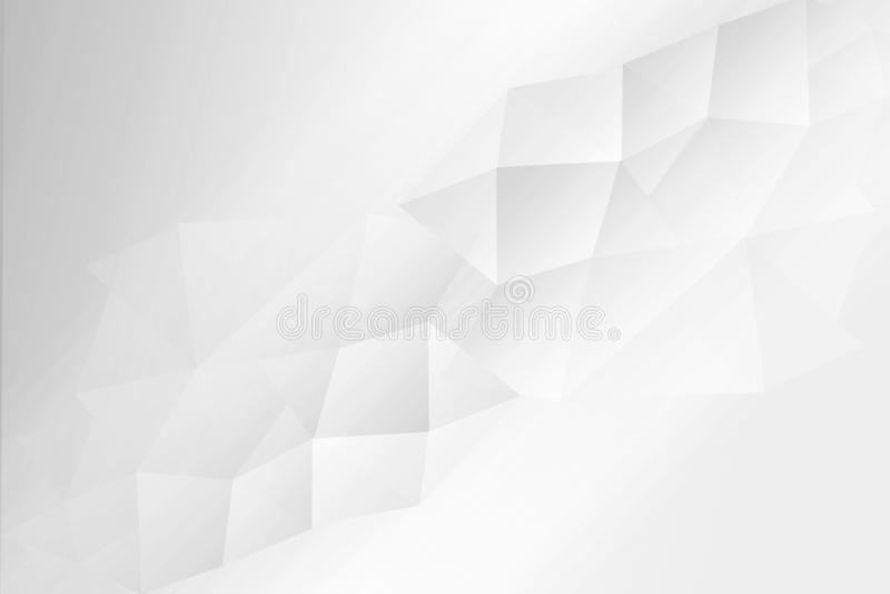 Polygonal, geometric white and grey background. A Polygonal, geometric white and grey background royalty free illustration