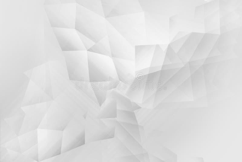 Polygonal, geometric white and grey background. A beautiful Polygonal, geometric white and grey background stock illustration