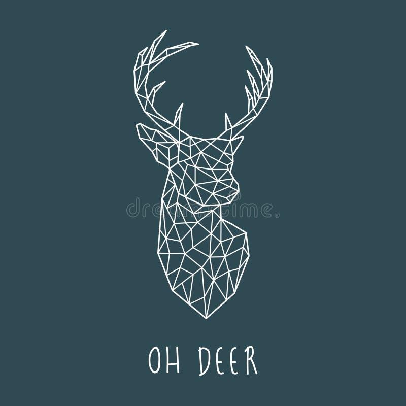 Polygonal head of scandinavian deer. vector illustration