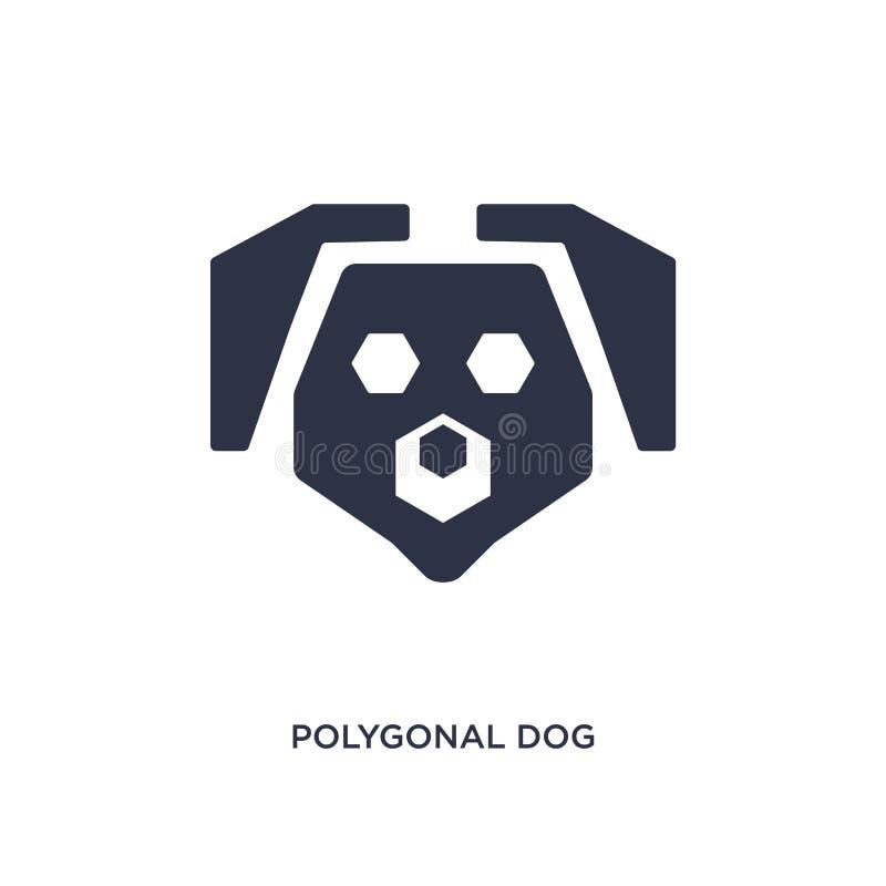 polygonal hundsymbol på vit bakgrund Enkel beståndsdelillustration från geometribegrepp royaltyfri illustrationer
