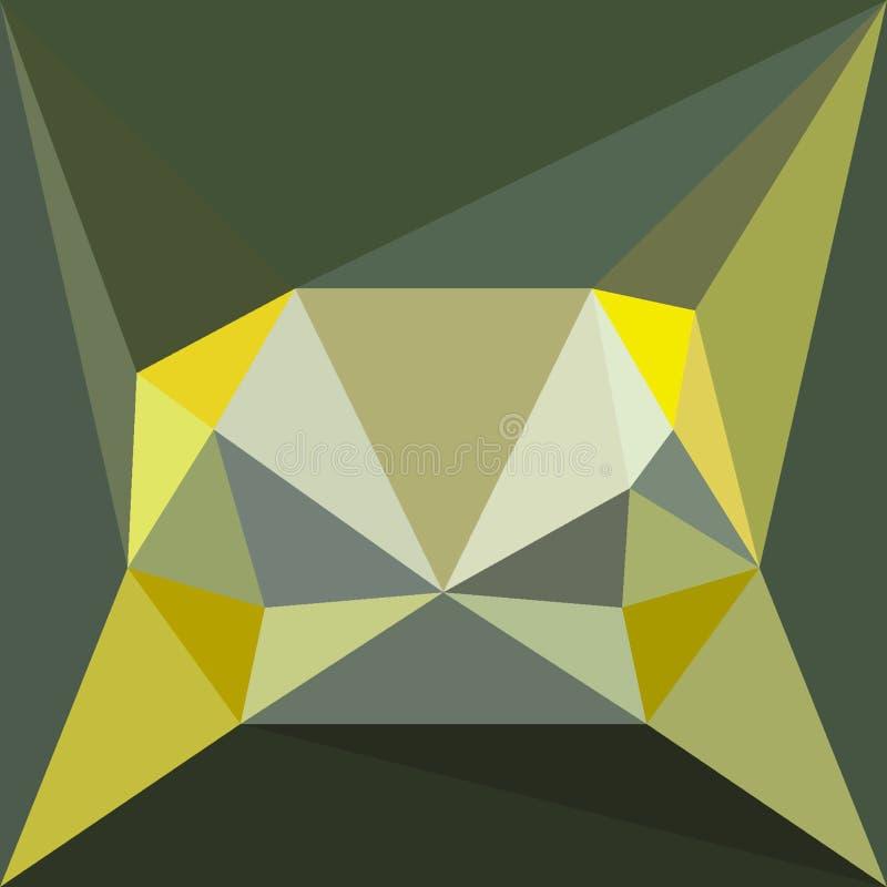 Polygonal invecklat diagram för abstrakt designobjekt i mitten för baner eller modernt kort vektor illustrationer