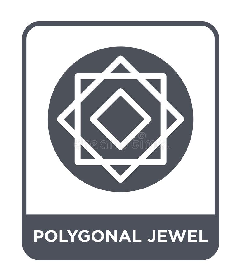 polygonal jewel icon in trendy design style. polygonal jewel icon isolated on white background. polygonal jewel vector icon simple stock illustration