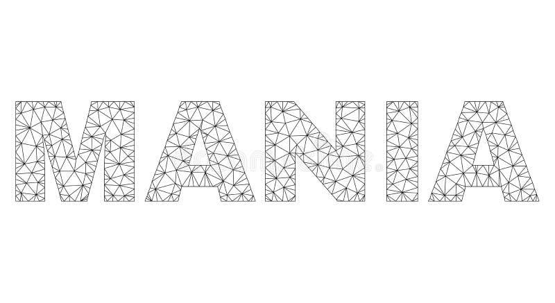 Polygonal kadaver MANIA Text Tag stock illustrationer