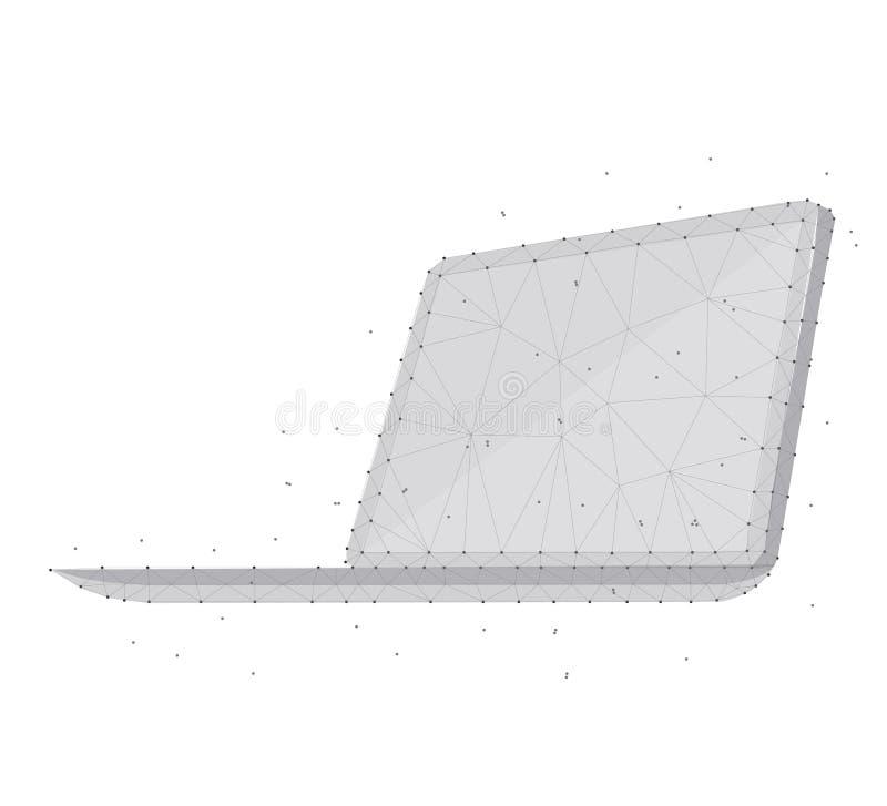 Polygonal lap-top isometric β W 1 4mp 1 DT στοκ εικόνες