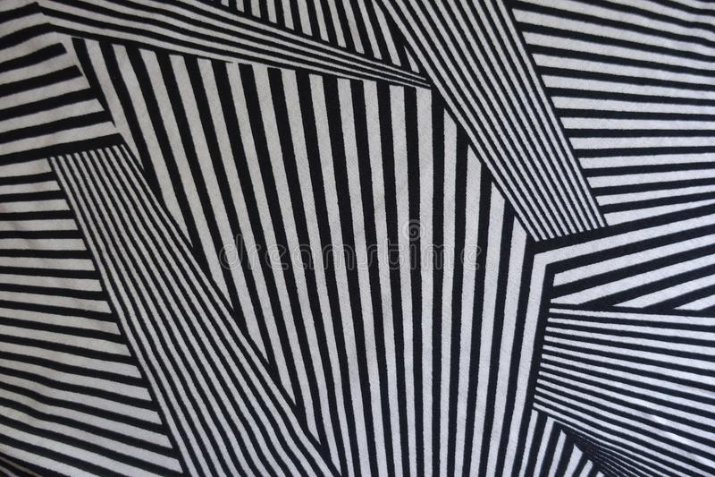 Polygonal linjer tryck på tyg royaltyfri fotografi
