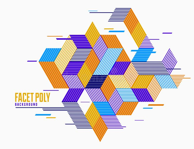 Polygonal low poly vector abstract design, artistic retro style background for ads or prints, cover or poster, banner or card. royalty free illustration