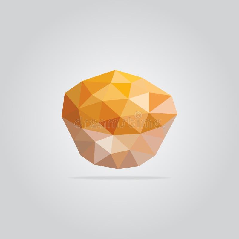 Polygonal muffin illustration stock image