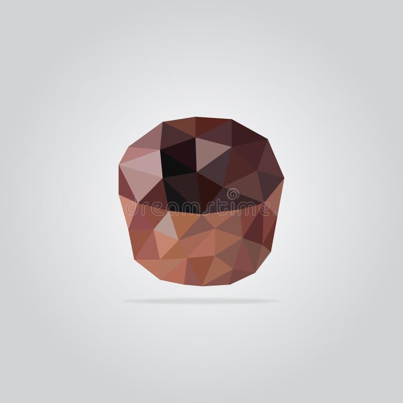 Polygonal muffin illustration stock photos