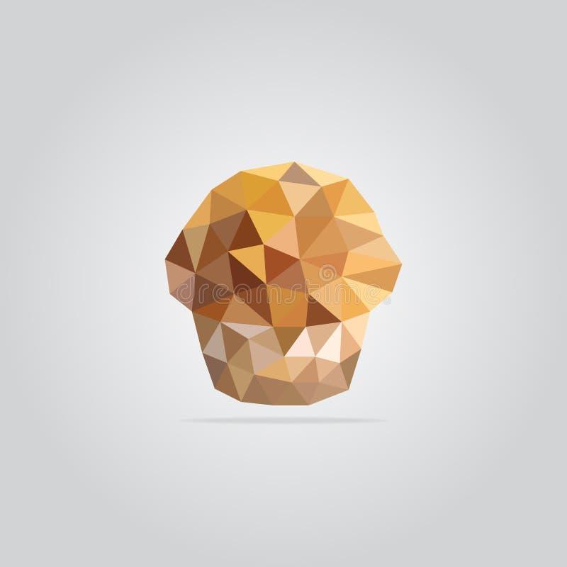 Polygonal muffin illustration stock photo