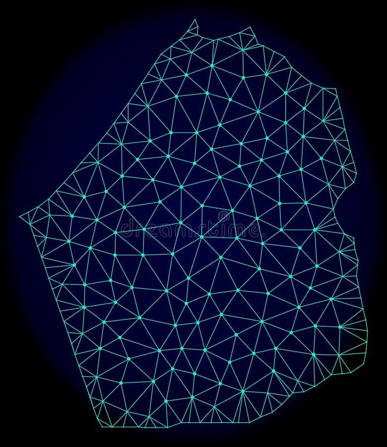 Polygonal Network Mesh Vector Abstract Map of Dubai Emirate stock illustration