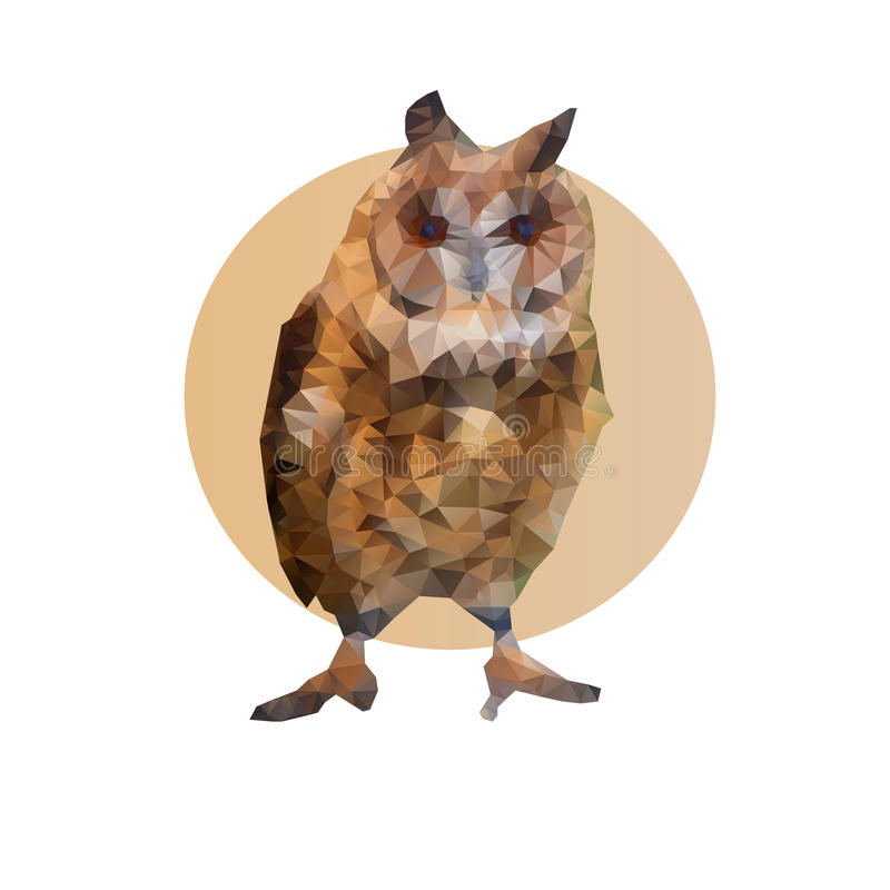 Polygonal owl stock images