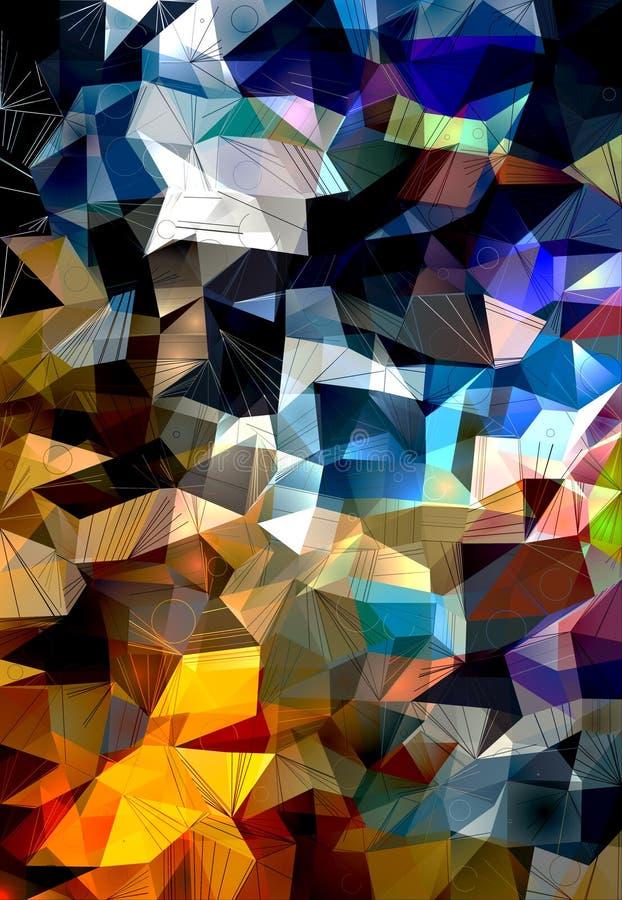 Polygonal pattern vector illustration