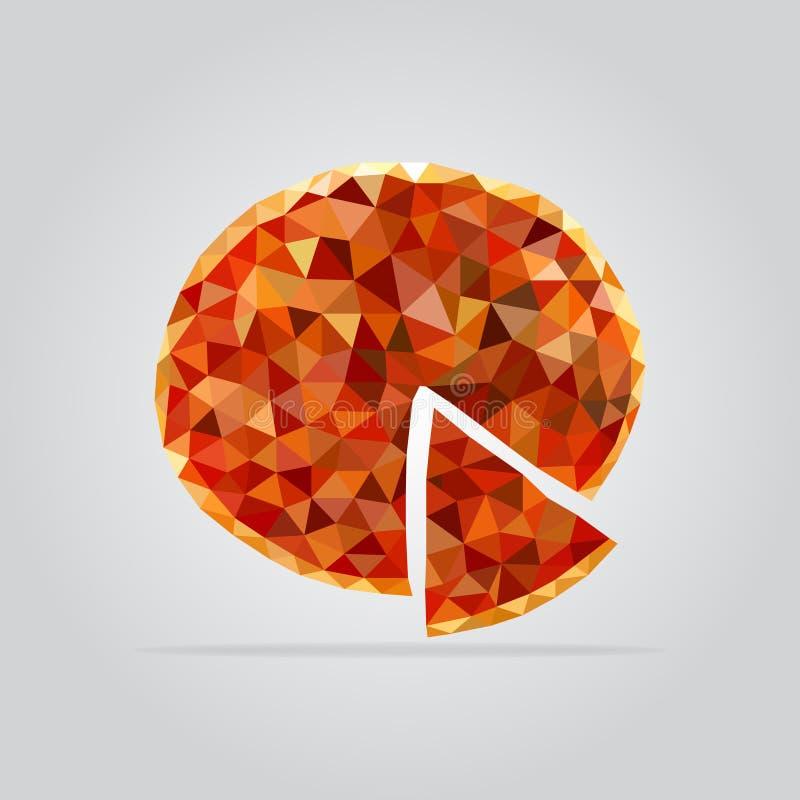 Polygonal pizza illustration royalty free stock image