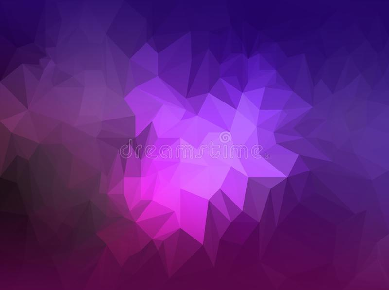 Purple Polygonal Abstract Background: Polygonal Purple And Dark Blue Background