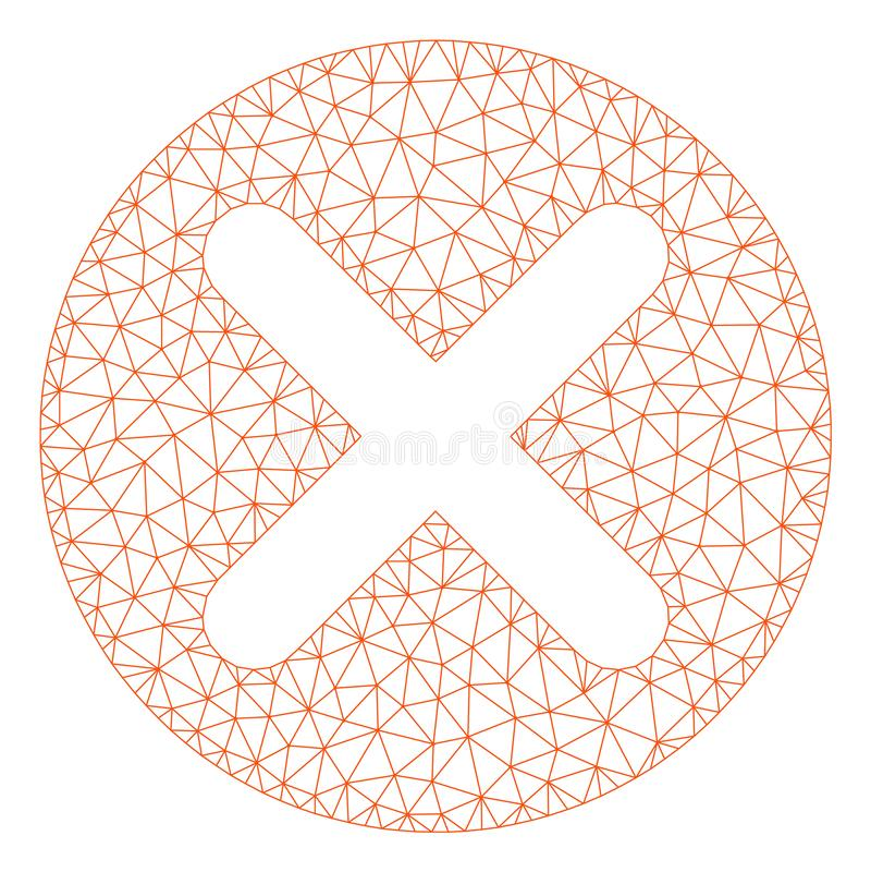 Polygonal ramvektor Mesh Illustration f?r annullering vektor illustrationer