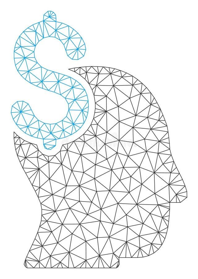 Polygonal ramvektor Mesh Illustration f?r kommersiellt intellekt royaltyfri illustrationer