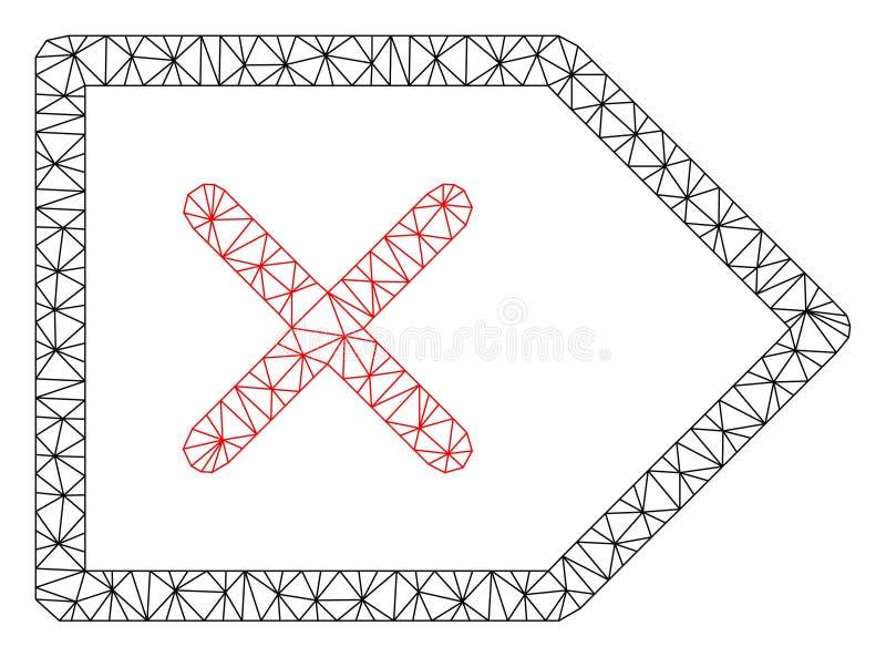 Polygonal ramvektor Mesh Illustration f?r annullering royaltyfri illustrationer