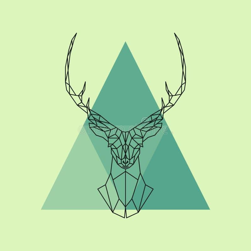 Polygonal reindeer head. Abstract geometric animal. Vector illustration vector illustration