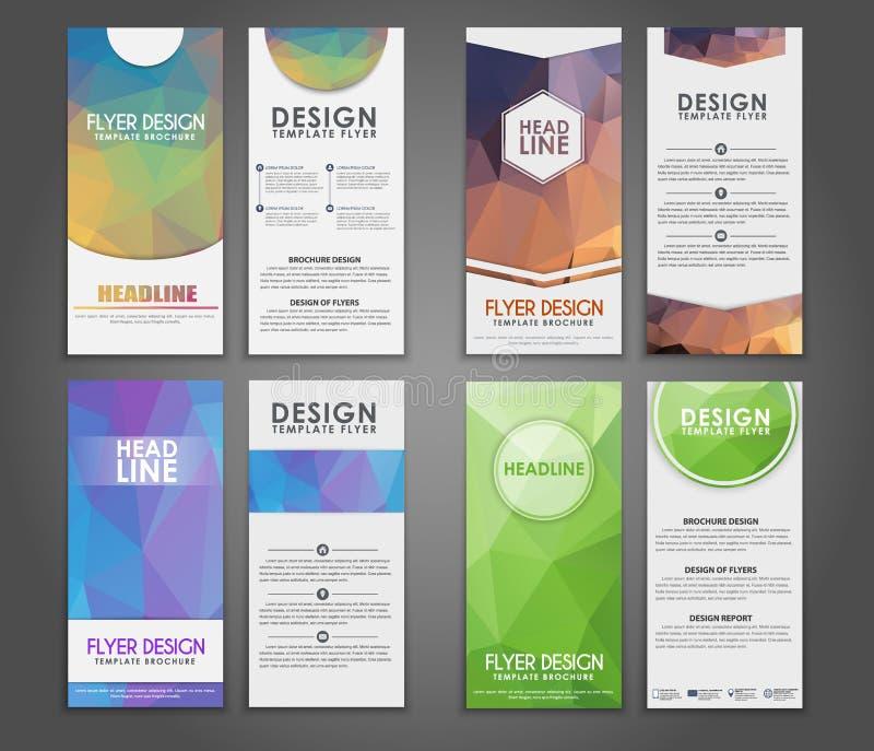 Polygonal reklamblad för designgeometri vektor illustrationer