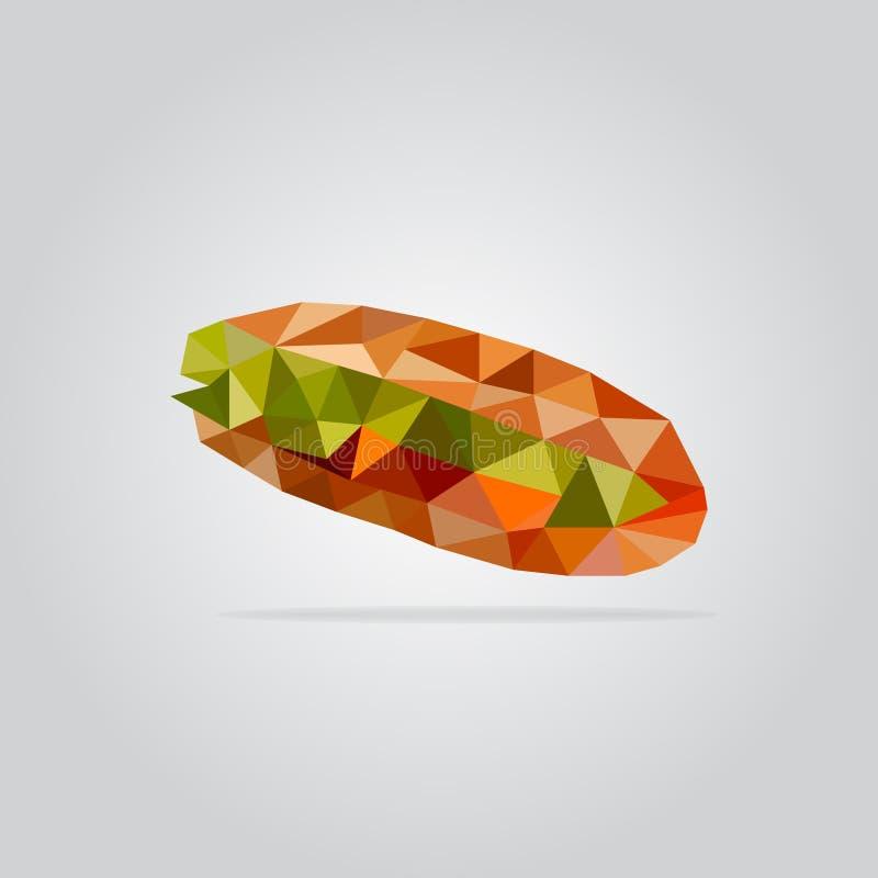 Polygonal sandwich illustration royalty free stock photos