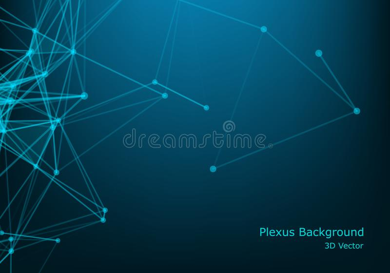 Polygonal space wireframe background communication. Global network connections template. Complex lines and dots backdrop. Digital. Data visualization. Low poly vector illustration