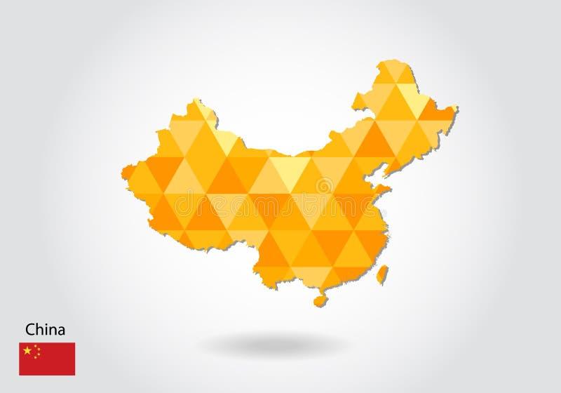 Download Polygonal Vector Map Of China Stock Vector   Illustration Of  International, Chongqing: 104550228