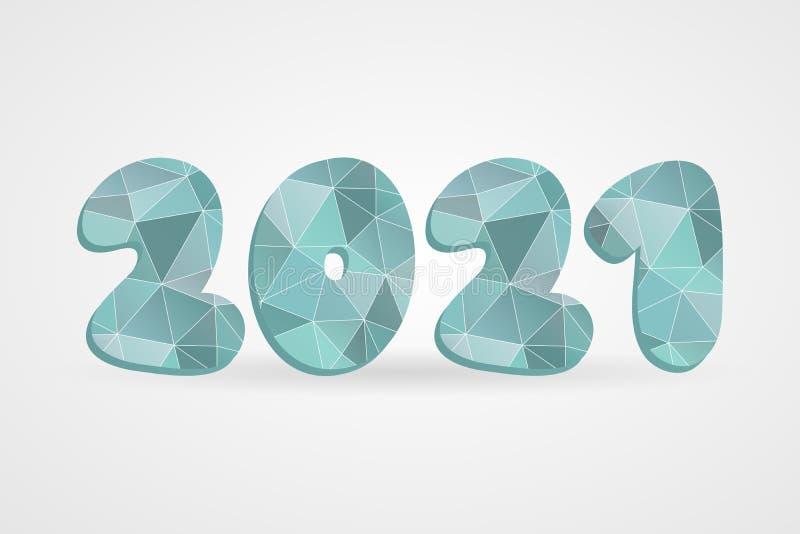 2021 Polygonal Vector Symbol. Happy New Year Abstract ...
