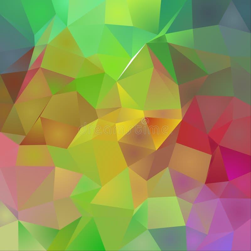 Polygonal Vivid Background royalty free illustration