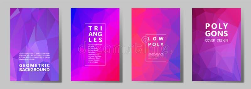 Polygonale abstrakte Deckblätter der Facette, niedriger Polysatz lizenzfreie abbildung